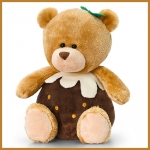 Pip the Bear.Christmas.w/ Pud - 20cm - SX0493