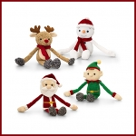 Christmas.Knitted Dangly.4pcs - 12cm - SX0499-4