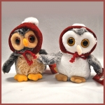 Winter Owls.2 pcs - 14cm - SX0003-2