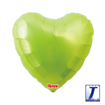 Standard Heart.metallic lime green - 45cm - 0201311109
