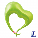 Elegant Heart.metallic lime green - 75cm - 0201317109