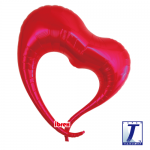 Elegant Heart.metallic red - 75cm - 0201317101