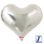 Jelly Heart.metallic silver - 65cm - 0201317505