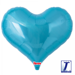 Jelly Heart.metallic light blue - 65cm - 0201317503