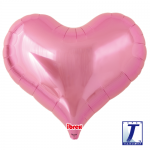 Jelly Heart.metallic pink - 65cm - 0201317502