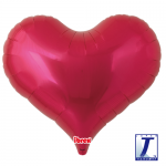 Jelly Heart.metallic red - 65cm - 0201317501