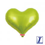 Jelly Heart.metallic lime green - 35cm - 0201313309