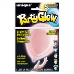 Light Up Balloons.Ast pastel colors - 5pcs - UN54781