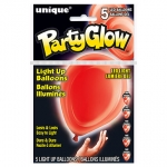Light Up Balloons.ruby red - 5pcs - UN54774
