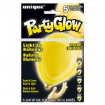 Light Up Balloons.sunburst yellow - 5pcs - UN54776