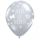QU.11.Mr & Mrs.diamond clear - 50pcs - 18654