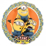 Singing balloon.Despicable Me Group - 75cm - 34928
