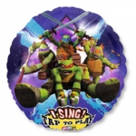 Singing balloon.Teenage Mutant Ninja Turtles - 75cm - 31655
