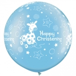 QU.36.Christening Soft Giraffe.prl light blue - 2pcs - 25067