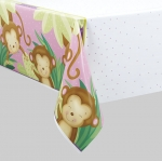 Tablecover.Girl Monkey Baby Shower - 137cm x 213cm - UN49713