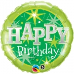 Birthday Green Sparkle - 45cm - 37924