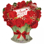 I Love You Red Roses Branch - 45cm - 19624-18