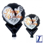 Upright.Happy Wedding Lace Black.10cm - 10pcs - 0201810517