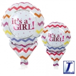 Upright.It's a Girl Chevron.10cm - 10pcs - 0201810513