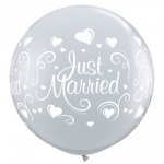 QU.36.Just Married Hearts Wrap - 2pcs - 18849
