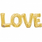 Script balloon.Love - gold - 65cm - airfilled ! - 33767