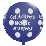 QU.36.Lentefeest.big polka dots.dark blue  - 2pcs - IB-15198