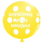 QU.36.Lentefeest.big polka dots.yellow - 2pcs - IB-15205