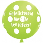 QU.36.Lentefeest.big polka dots.lime green - 2pcs - IB-15200