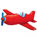 Red Vintage Airplane - 90cm - 57811