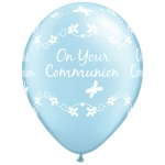 QU.11.Communion.Butterflies.pearl light blue - 25pcs - 25063