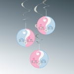 Hanging Swirl.gender reveal - 65cm - UN47400