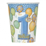 Cups.first birthday.blue - 35cl - UN23946