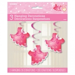 Hanging Swirls.Clothesline Baby Shower.Pink - 81cm - UN42461