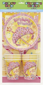 Party Pack.Pretty Princess - 8 pers. - UN25657
