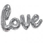 Scriptballoon.Love.silver - 92cm - 15733-36