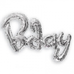 Scriptballoon.Birthday.silver - 92cm - 15758-36
