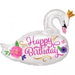 HBday Beautifull Swan - 73cm - 35651