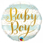 Baby Boy Blue Stripes - 45cm - QU-88001