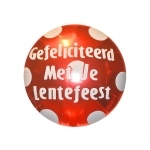Lentefeest.Polka Dots.Ruby Red - 45cm - IBS11608