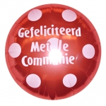 Communie.Polka Dots.Ruby Red - 75cm  - IB-15304