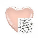 Communie.Heart.Vlinders.Rose Gold - 45cm - IB-15266