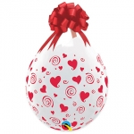 QU.18.stuffing balloon.Swirling Red Hearts - 25pcs - 39176