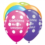 QU.05.Lentefeest.big polka dots.tropical ast - 100pcs - IB-15213