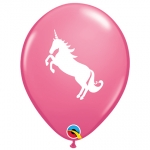 Party pack.Unicorn.rose - 6pcs  - QU-86019