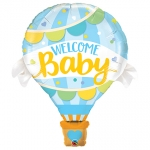 Welcome Baby Blue Balloon - 107cm ! - 78654