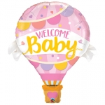 Welcome Baby Pink Balloon - 107cm ! - 78656