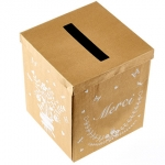 Wedding Gift Box.kraft.MERCI - 25cmx20cmx20cm  - LAP73365