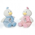 Baby Sitting Chicken + rattle - 28cm - 2pcs - ART2020A