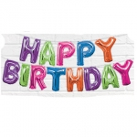 Happy Birthday Multicolor Balloon Banner Kit  - 53675