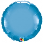 Chrome Round Blue - 45cm  - 89541